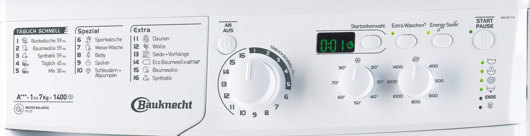 Bauknecht-WM-MT-7-IV-Waschmaschine-Frontlader-unterbaufhigA-7-kg-1400-UpMStartzeitvorwahlMengenautomatik