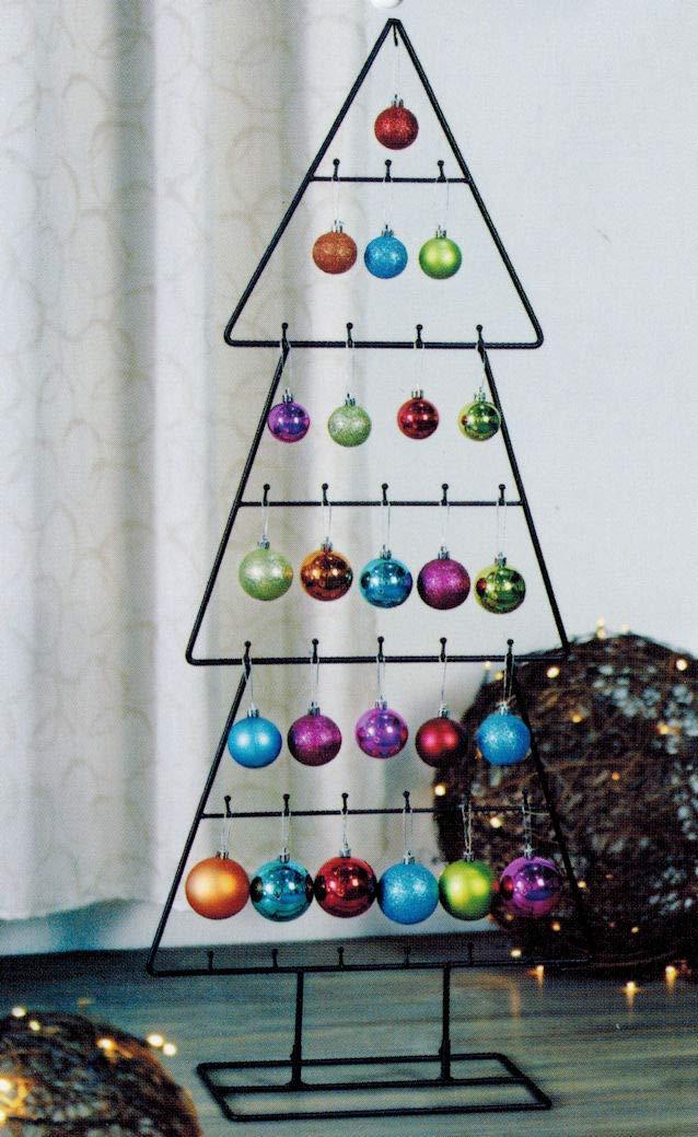 Spetebo Design Metall Tannenbaum Fur Zierschmuck 100 Cm Deko Weihnachtsbaum Tanne Schwarz