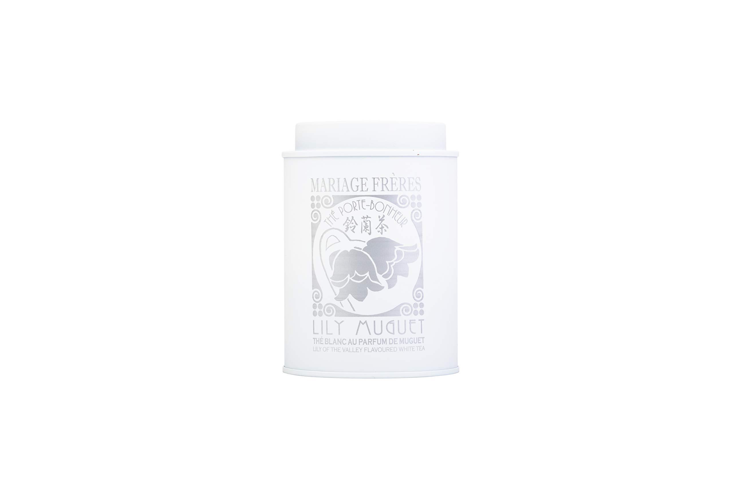 Mariage-Frres-Paris-Weisser-Tee-Lily-Muguet-Lily-of-the-valley-Weisstee-mit-Maiglckchen-Aroma-lose-Teebltter-in-Dose-100-g