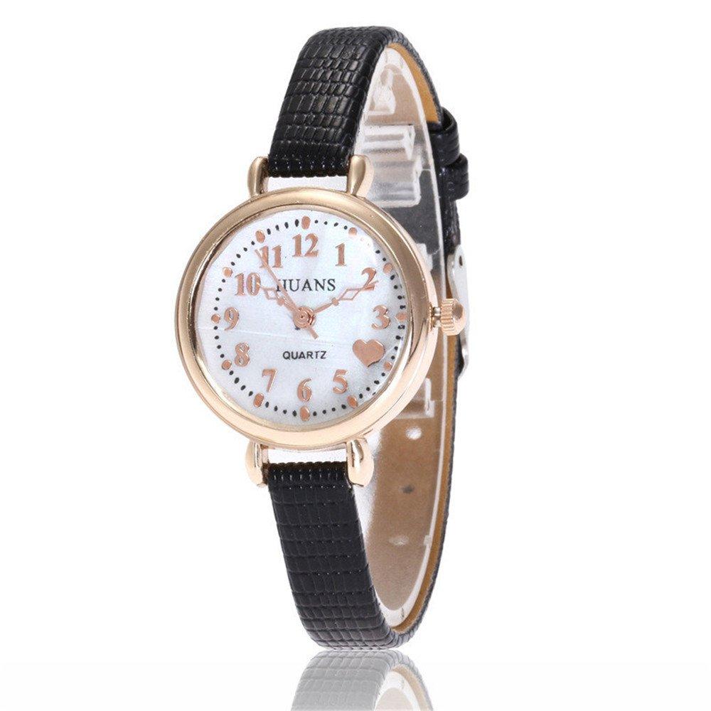 Sepbear-Damenuhr-Analog-Quarz-Armbanduhr-Zahlen-Ziffern-Fein-Leder-Armband-und-Batterie-Uhr