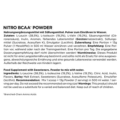 ESN Nitro BCAA Powder, Cola, 500 g