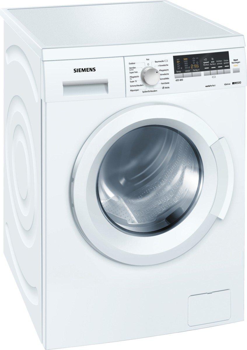 Siemens-iQ500-WM14Q442-iSensoric-Waschmaschine-A-1400-UpM-7kg-wei-VarioPerfect-AquaStop-Selbstreinigungsschublade