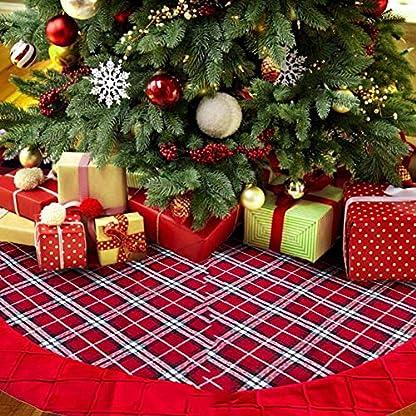 SHOH-Weihnachtsbaum-RckeTannenbaum-Decke-Weihnachtsbaumdecke-Christbaumstnder-Baum-DeckePlsch-Weihnachtsschmuck-XmasTree-Rock-Fr-Weihnachtsdekoration-Neujahr-Party-Urlaub-Dekorationen-100CM