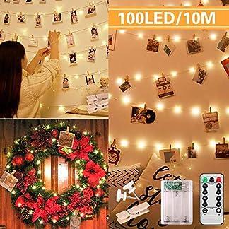 LED-Foto-Clip-Lichterkette-10m-100LED-Foto-Lichterkette-mit-50-Clips-20-Ngeln-Clip-Deko-Lichterketten-Bilder-Fotos-Karten-Lichterkette-fr-innen-Schlafzimmer-Haus-Weihnachten-Hochzeit