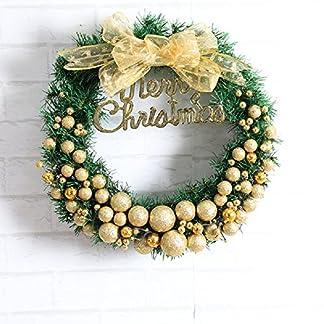 Weihnachtliche-dekorative-Blumenkranz-Girlanden-fr-Eingangstr-30-cm