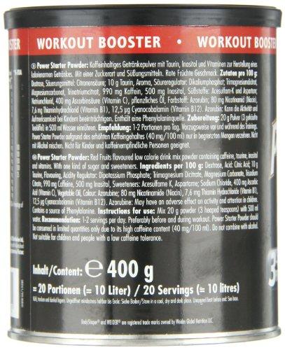 Weider, Power Starter Powder, Red Fruits, 1er Pack (1x 400 g)