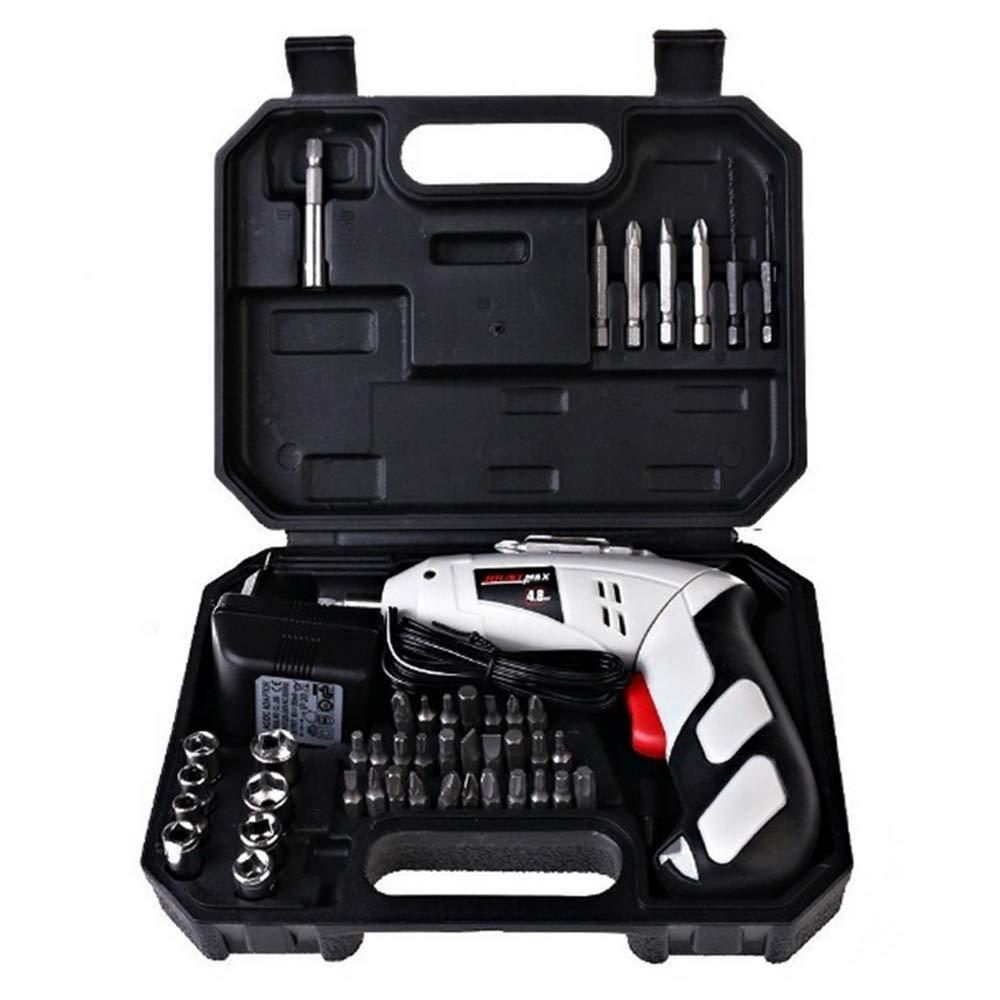 Lifemaison-Portable-Akku-Bohrschrauber-Wiederaufladbare-Elektro-Bohrmaschine-Reparatur-Elektrowerkzeuge-Set-48V-mit-45-Stck-Schraubendreher-und-Bohrer-fr-Hausaufgaben