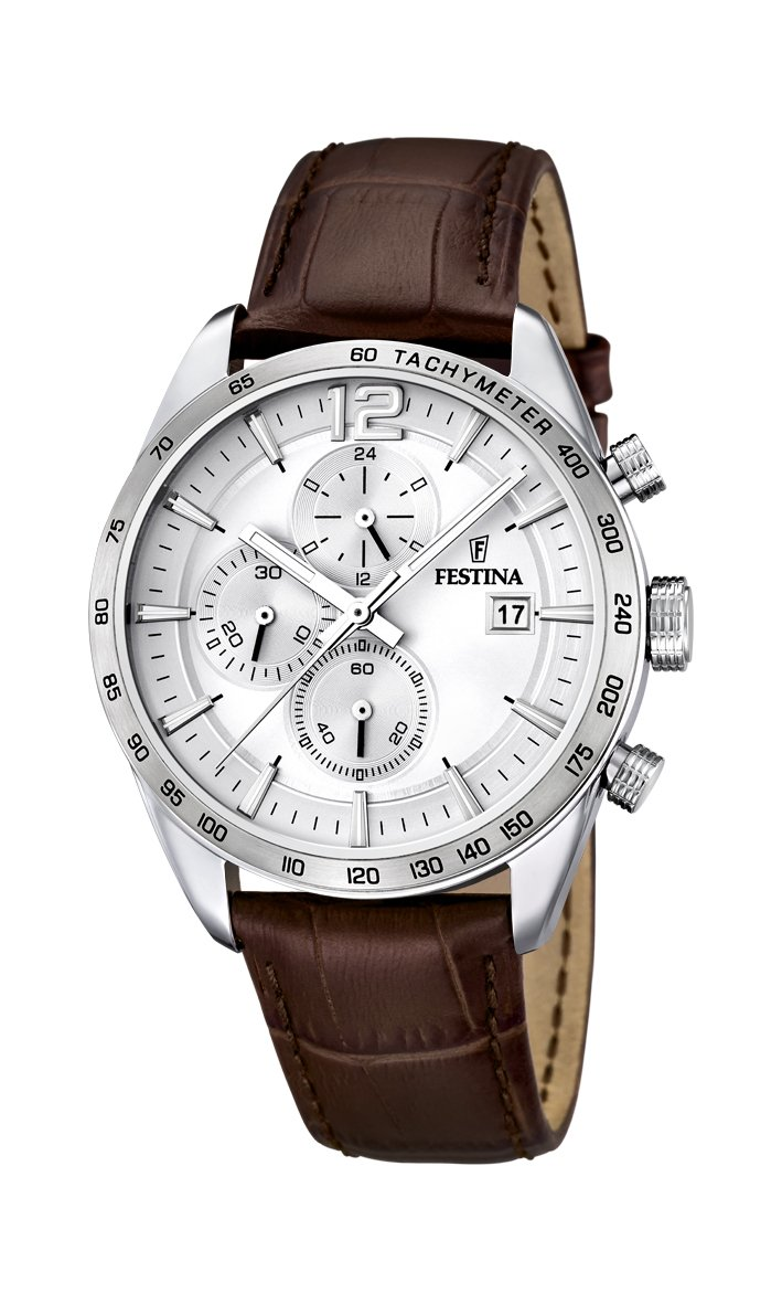 Festina-Herren-Armbanduhr-Analog-Quarz-Leder-F16760-1
