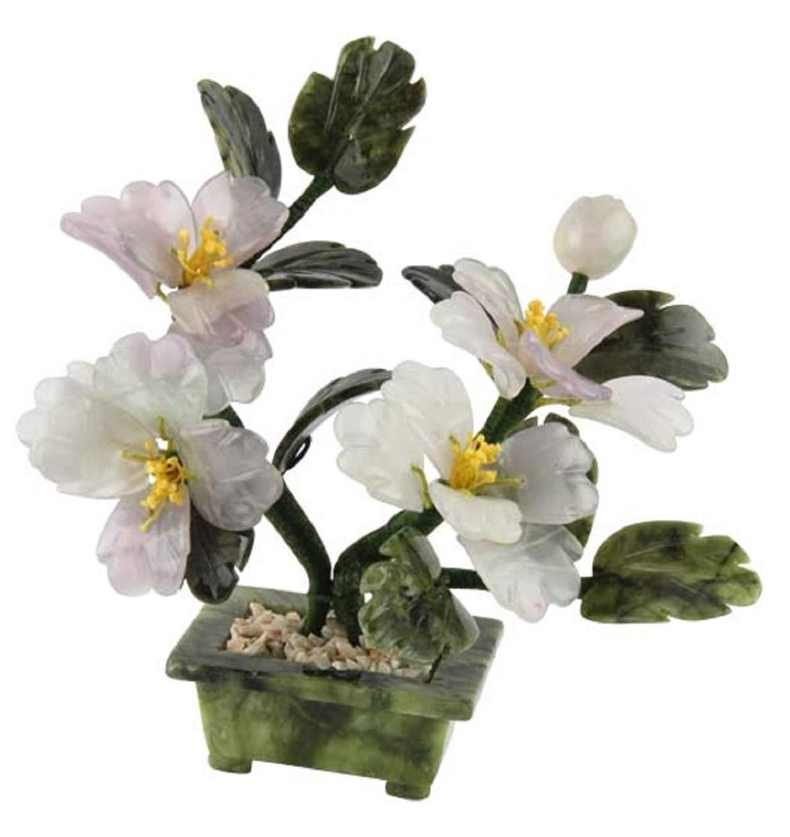 Edelstein-Blten-Baum-mit-Fluorit-und-Serpentin-ca-20-cm-grn-und-zart-lila