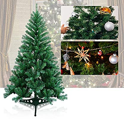 wolketon-Grn-PVC-knstlicher-Weihnachtsbaum-Einzigartiger-Kunstbaum-Weihnachtsdeko-schwer-entflammbar-mit-Plastikstnder-fr-den-Weihnachtsdekoration
