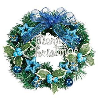 Weihnachten-Deko-Clode-DIY-Frohe-Weihnachten-Kranz-40-cm-Garland-Fenster-Tr-Dekorationen-Bowknot-Ornament