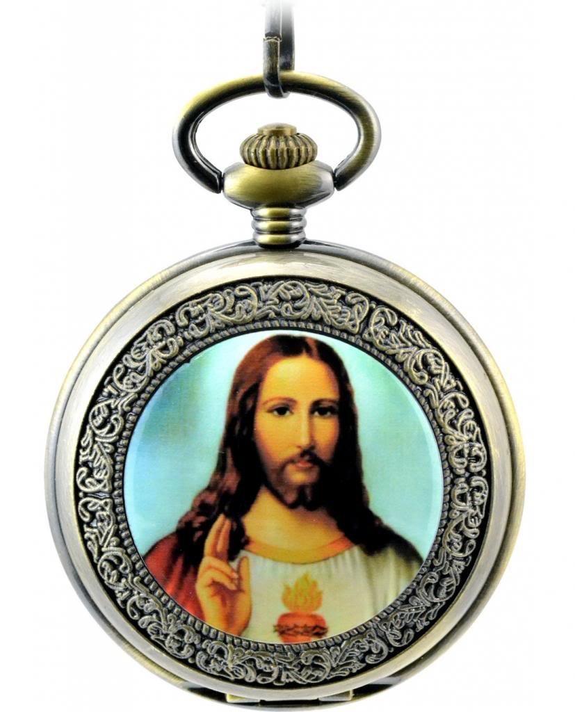 Unendlich-U-Jesus-Christ-Christentum-Katholizismus-Retro-Handaufzug-Mechanische-Taschenuhr-Hohle-Skelett-Kettenuhr-Pullover-Halskette-Bronze