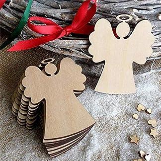 FeiliandaJJ-10PCS-Weihnachten-Anhnger-DIY-Holz-Engel-Elch-Schneemann-Weihnachtsbaum-Vier-Stile-Christbaumschmuck-Wohnkultur
