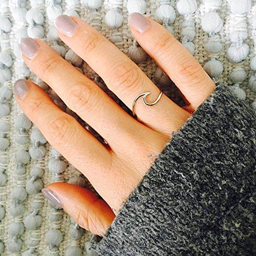 Ring Wave – 925 Silber – Ringgröße 47 (15.0)
