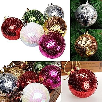 FeiliandaJJ-Weihnachtskugel-Weihnachtsdeko-Pailletten-Glitter-Kugeln-Weihnachtsbaum-Ornament-Dekoration-Weihnachten-Anhnger-Party-Home-Schlafzimmer-Deko-8CM