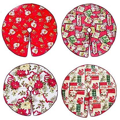 MIlopon-6090cm-Runde-Tuch-Baumdecke-Weihnachtsbaum-Rock-Weihnachtsbaum-Decke-Christbaumstnder-Schutz-vor-TannennadelnTannenbaum-Unterlage-mit-Weihnachtsmotiv