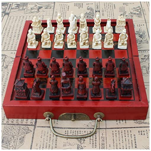 Sharplace-Holz-Chinesisches-Klappbares-Schachspiel-Set-fr-Reise-oder-Zuhause