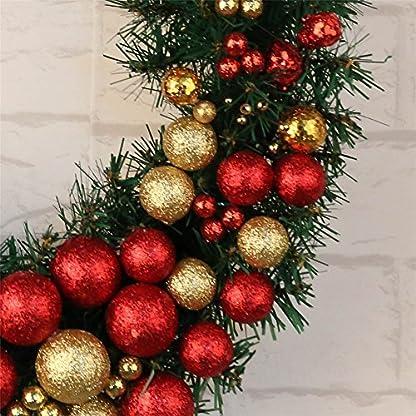 ZSL-Weihnachten-Deko-Weihnachtenkranz-ohne-Beleuchtung-Weihnachtsgirlande-Trkranz-aus-Kunststoff-fr-Innen-und-Auen-Durchmesser-30-cm