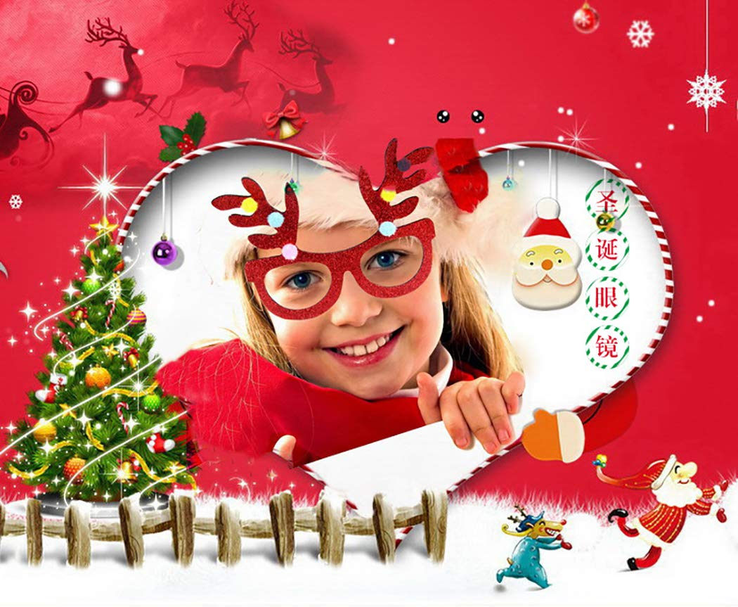 Joyibay-5-Paare-Weihnachtsfest-Glser-Nette-sortierte-lustige-Glser-fr-Party-Dekor