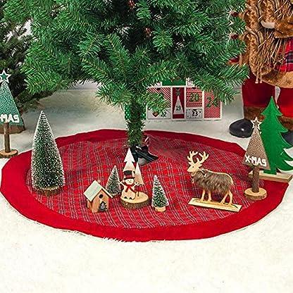 Paradesour-2019-Rot-Weihnachtsbaumrock-Karierter-Weihnachtsbaum-Rock-Weihnachtsbaumdecke-Baumdecke-Christbaumstnder-Decke-Weihnachtsschmuck-Weihnachtsdeko-100CM-parsimonious