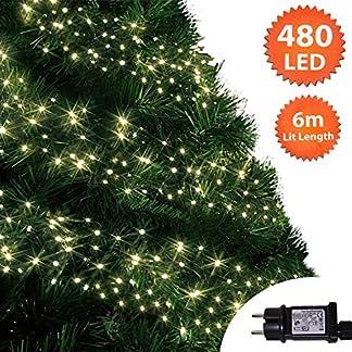 Weihnachtsbeleuchtung-Innen-Auen-Cluster-Baumbeleuchtung-String-lichterkette-Memory-Timer-Netzbetrieben-Beleuchtet-Grnes-Kabel