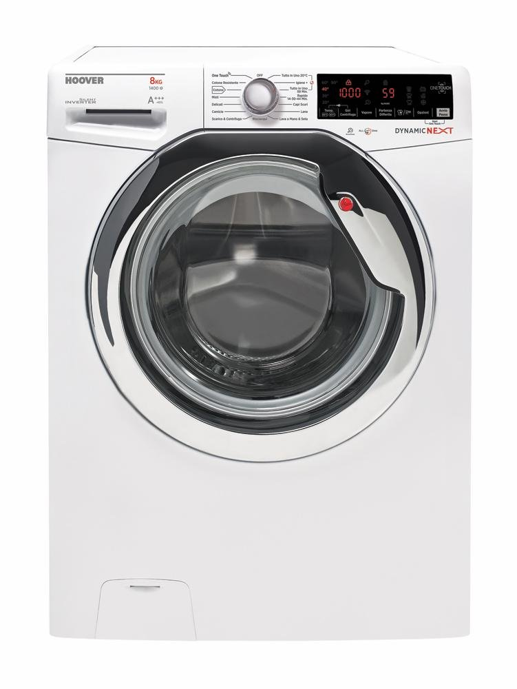 Hoover-dxoa-48-ahc7–01-autonome-Belastung-Bevor-8-kg-1400trmin-A-40-wei-Waschmaschine–Waschmaschinen-autonome-bevor-Belastung-wei-drehbar-Oberflche-links-LED
