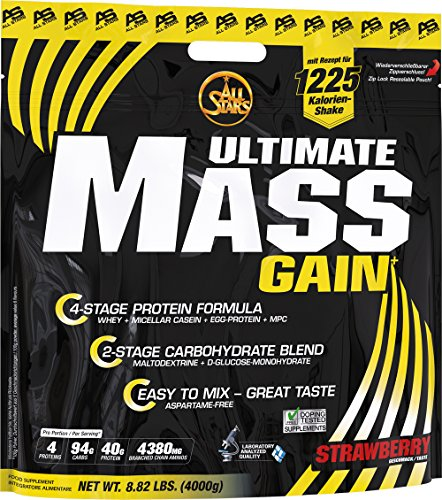 All Stars Mass-Gain, Strawberry-Cream, 1er Pack (1 x 4000 g)