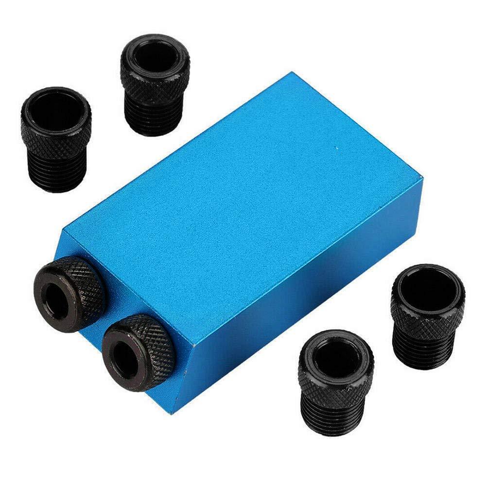 Lecimo-Taschenlochvorrichtungs-Set-fr-Holzarbeiten-15-Grad-Winkel-Schrgpositionierer-mit-68-10mm-Adapterbohrfhrungssuchgert