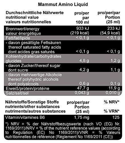 Mammut Aminoliquid, Blutorange (mit Vitamin B6 optimiert) 1000 ml Flasche