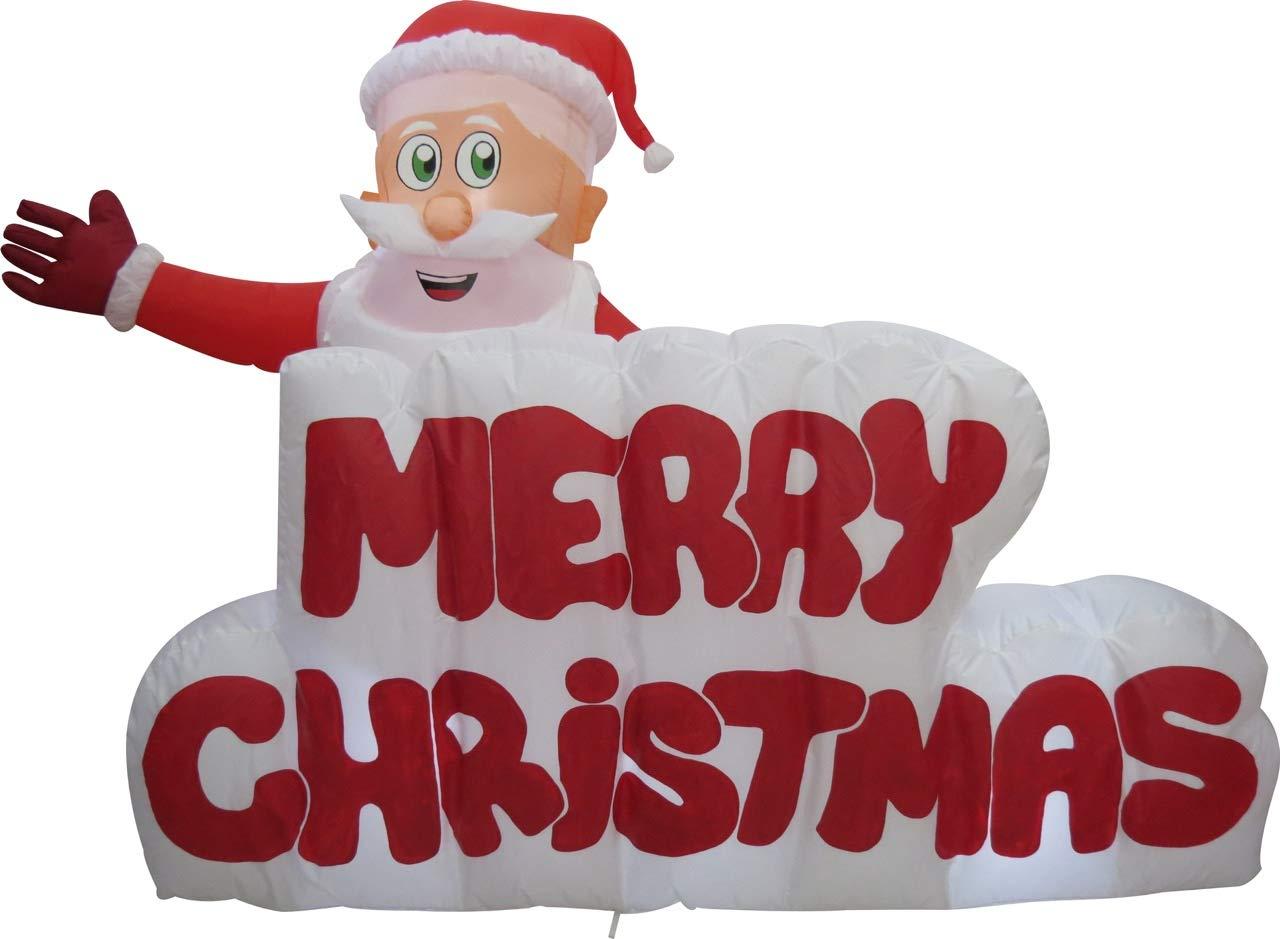 XXL-LED-WEIHNACHTSMANN-Merry-Christmas-Schriftzug120cm-hochAUFBLASBARSELBSTAUFBLASENDInflatableLED-BELEUCHTETGarten-DEKO-FigurAIR-BlownWEIHNACHTSDEKOWEIHNACHTSMANNAIRBLOWNAUFBLASBARSANTA