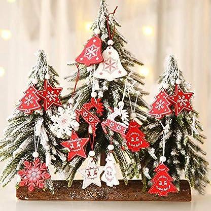 Somedays-12-X-Weihnachtsbaum-Holzanhnger-Fr-Weihnachtsdekorationen-Geschenkanhnger