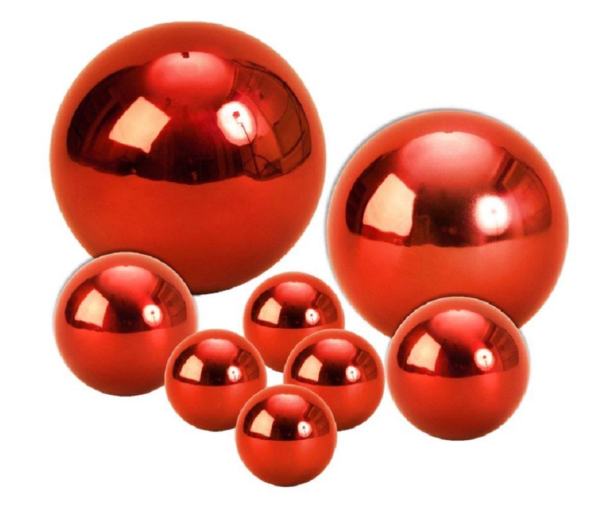 Geschenkestadl-8-Dekokugel-Set-Rot–15cm–10cm–6cm–4-cm-Edelstahl-Kugel-Weihnachten