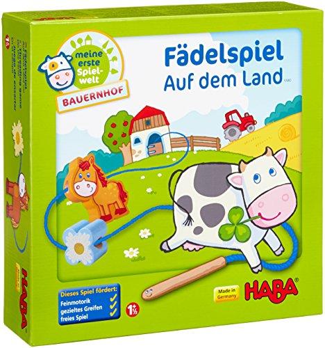 Haba-5580-Meine-erste-Spielwelt-Bauernhof-Fdelspiel-auf-dem-Land