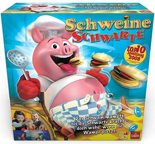 Goliath-30341-Schweine-Schwarte-Kinder-Gesellschaftsspiel-ausgezeichnetes-Kinder-Spiel-mit-saumigem-Spa-fr-die-ganze-Familie-ab-4-Jahren
