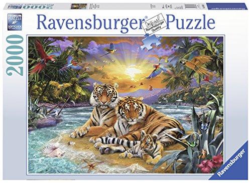 Ravensburger-16624-Tigerfamilie-im-Sonnenuntergang-2000-Teile-Puzzle