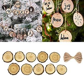 FeiliandaJJ-10Pcs-Hlzern-DIY-Weihnachten-Deko-Anhnger-Christbaumschmuck-Party-Hochzeit-Haus-Dekoration-Feiertags-Geschenke