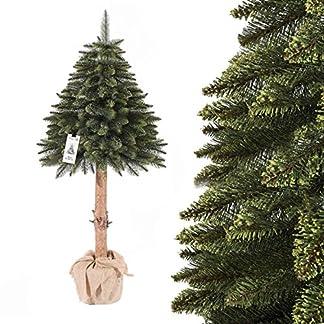 FairyTrees-knstlicher-Weihnachtsbaum-im-Topf-FICHTE-NATURSTAMM-Material-PVC-Baumstamm-aus-echtem-Holz-FT19-FT20-FT21