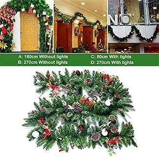 heling896-Weihnachtslametta-hngende-Girlanden-Grn-Rebe-Rattan-Weihnachtsverzierungs-Ausgangsfestival-Dekoration