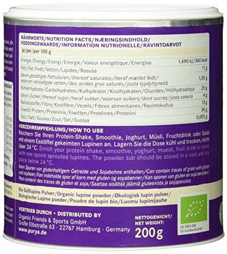 Purya Bio Vegan Protein – Lupinen gekeimt, 1er Pack (1 x 200 g)