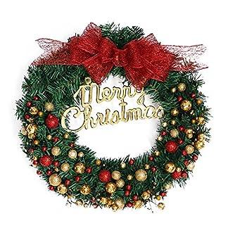 Prevently-40cm-Weihnachtskranz-fr-tr-deko-auenGold-Weihnachtskugeln-Kranz-Girlande-Dekoration-Weihnachtsdeko-Trkranz-Weihnachtskranz-mit-Weihnachtskugel