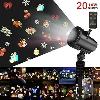 Weihnachts-Projektor-LichterKingtoys-LED-Projektionslampe-mit-20-Austauschbare-Patterns-und-RF-Fernbedienung-Weihnachtsbeleuchtung-Mit-Wasserdicht-IP6510W-RGB-Projektionslampe-mit-10M-Netzkabel
