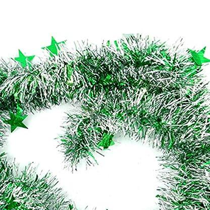 DaoRier-Weihnachtsbaum-Ornamente-Weihnachtsgirlande-2m-Dekogirlande-Gebrsteter-Farbbalken