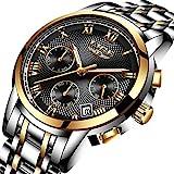Uhren-Herren-Luxus-Wasserdicht-Sportuhr-Quarzuhr-Herren-Edelstahl-Mode-Business-Armbanduhr-Mnner-Herren-Gold-Schwarz-Uhr