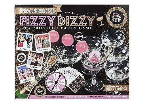 Kohlensure-Dizzy-Prosecco-Erwachsene-trinken-Party-Spiel-Wein-Ping-Pong-Weihnachten-Spa