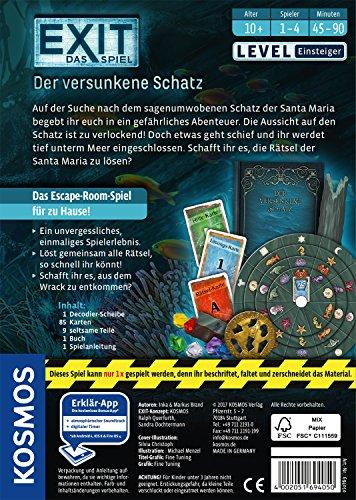 KOSMOS-Spiele-694050-EXIT-Spiel-versunkene-Schatz-Brettspiel