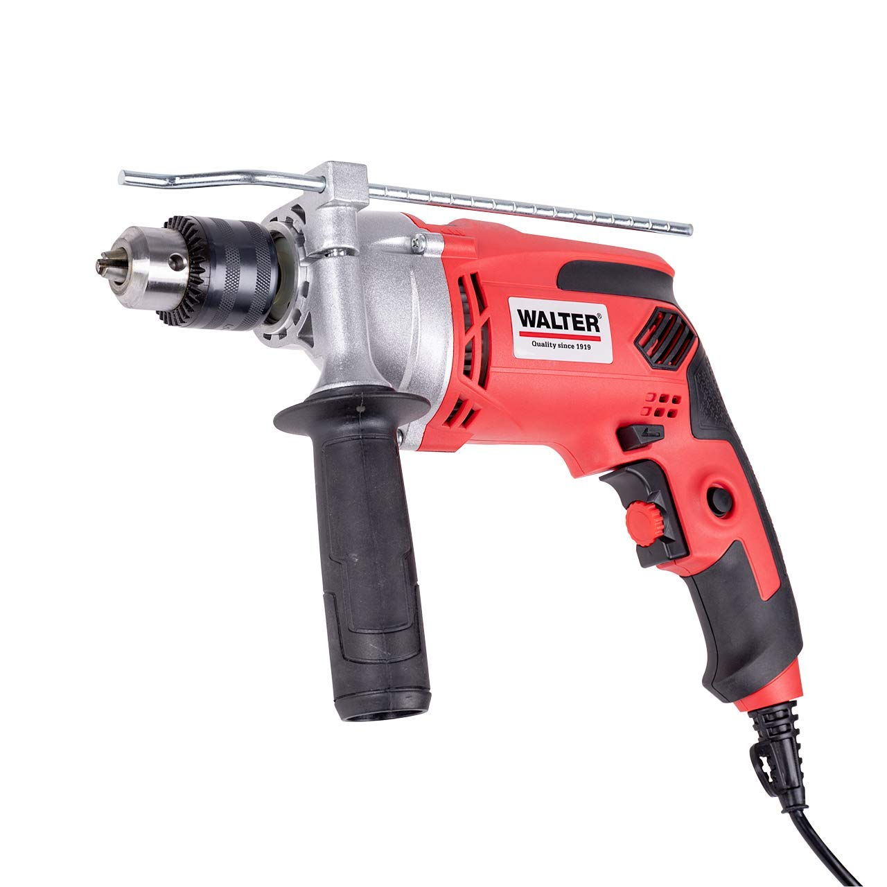 WALTER-Schlagbohrmaschine-910-Watt-elektr-Drehzahlregelung-mit-zweiten-Handgriff-Tiefenanschlag-max-Bohr–Holz-25-mm-Beton-16-mm-Metall-13-mm