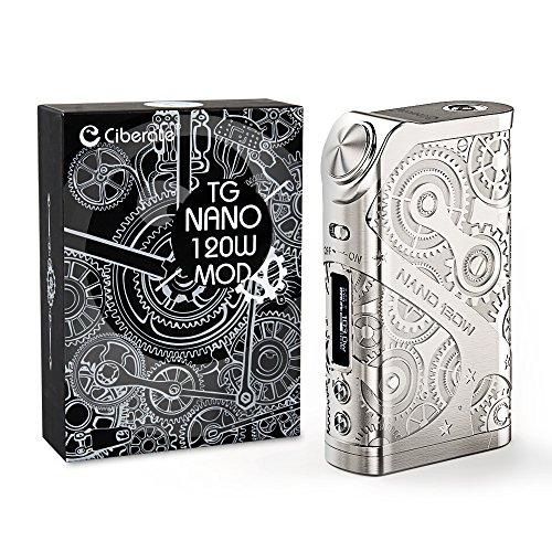 Ciberate® TG Nano 120W E Zigarette Mod Akku,Ohne Verdampfer,Ohne 18650 Batterie,ohne Nikotin, 1 St¨¹ck,Silbrig