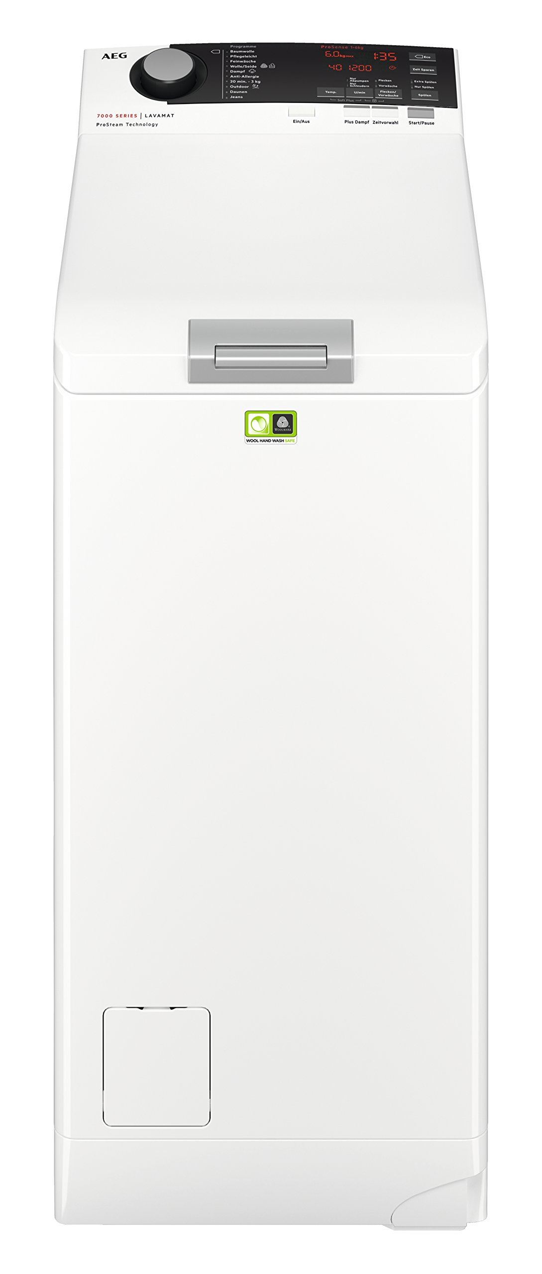 AEG-L7TE74265-Waschmaschine-Toplader-ProSteam-Auffrischfunktion-60-kg-Leise-Mengenautomatik-Nachlegefunktion-Kindersicherung-Allergikerfreundlich-Wasserstopp-1200-Umin