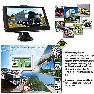HiEHA-7-Zoll-GPS-Navigationsgert-Navi-Navigation-LKW-PKW-Bluetooth-Europe-Traffic-Android-16GB-512MB-Blitzerwarnungen-POI-Fahrspur-und-Parkassistent-lebenslang-kostenlose-Karte-Updates