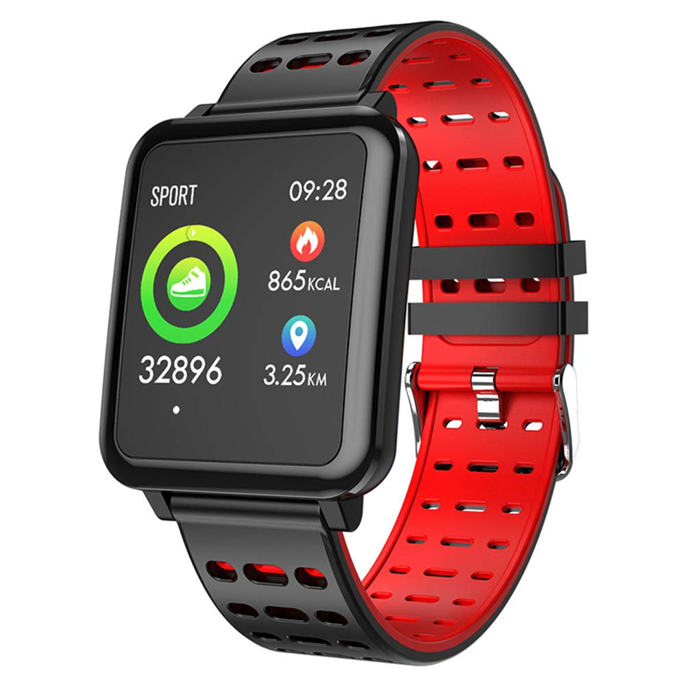 Smart-Watch-Tra-Q8-Fitness-Tracker-Armbanduhr-Activity-Tracker-Smart-Watch-wasserdicht-mit-Kamera-Sport-Smart-Watch-fr-Samsung-Android-Huawei-Sony-iPhone-fr-Herren-Damen-KinderRed